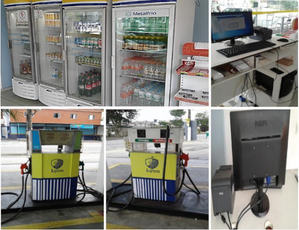Freezers, computador e 02 bombas de combustivel