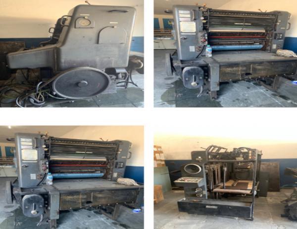 Máquina Offset, compressor e outras máquinas
