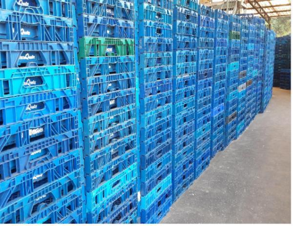 1580  unidades de cestos expositores de pão de forma