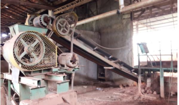 Laminador de argila para 25 ton